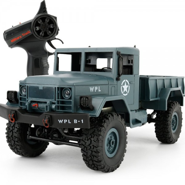 s-idee® Military Truck mit 2,4 GHz 4WD bis 10 km/h 1:18